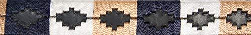 PFIFF 102572 Chukka Lederhalfter - hochwertig Bestickt (Cob, blau-beige-weiß)