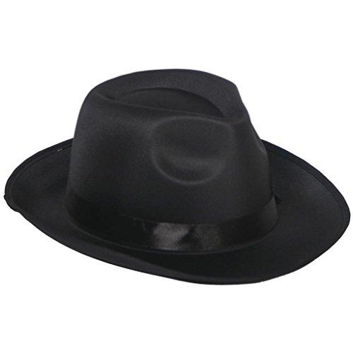 Michael Jackson Kostüm Maske - Nick and Ben Hut Hat Fedora Gangster Mafioso Blues Schwarz Capone Brot