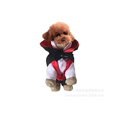 Kleiner Hund Vampir Kostüm Halloween Overall Urlaub Outfits -