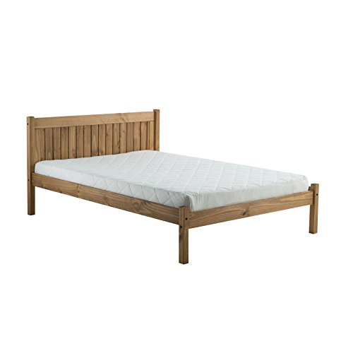 Birlea Rio Wooden Bed Frame, 4ft 6in Double Bed Frame