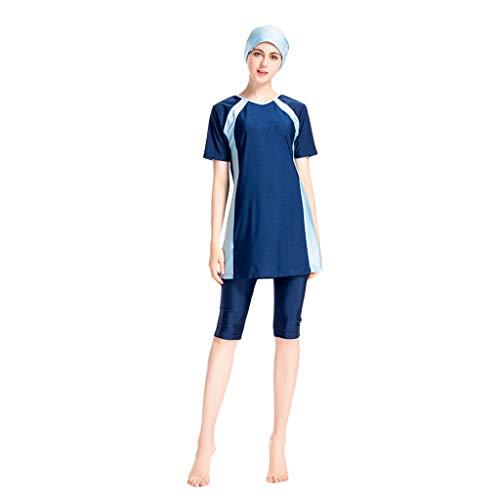 Amphia Islamische Muslimische Maxi-Kleid Vintage-Kleider - Bescheiden Bademode Frauen Surfing Suit Muslim Hindu Jüdisch Shorts Badeanzug (Maxi Kleider Bescheiden)