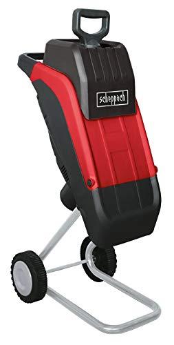 Scheppach Elektro-Gartenhäcksler GS45 (2400 Watt, max. Aststärke: 45mm, inkl. Überlastschutz, langlebige Wendemesser, inkl. Fangsack)