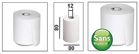 EPSON Pour imprimante thermique 80 mm-Lot de 20 rouleaux de Papier sans BPa, BPC ni BPS
