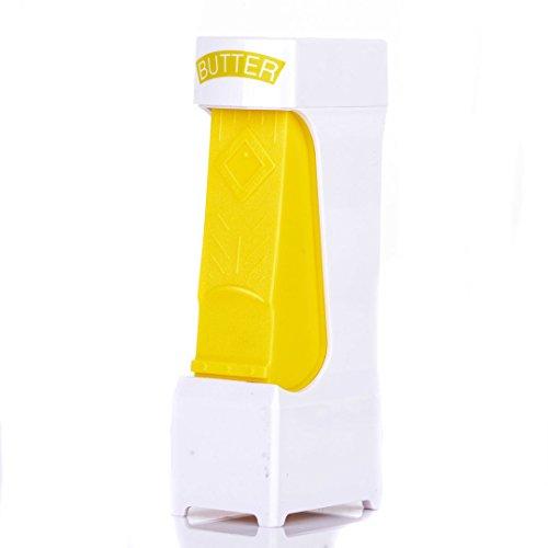 Cortador de mantequilla,Hoyoo, Queso rebanador de queso Herramientas Cortador de mantequilla de cocina con hoja de acero inoxidable, dispensador de mantequilla inteligente