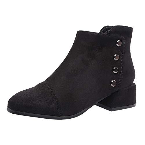 Bottes pour Dames Chaussures de Loisirs Bottes Martin Bottines Bottes à Talons Hauts avec Fermeture à glissière