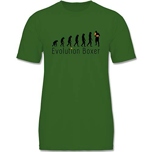 Evolution Kind - Boxer Evolution - 152-164 (12-14 Jahre) - Grün - F140K - Jungen T-Shirt
