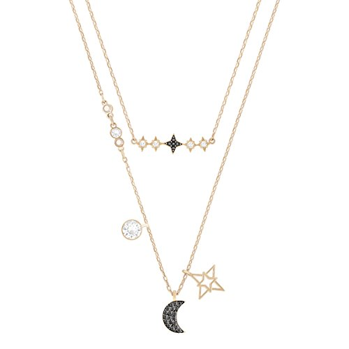 Swarovski Glowing Moon Halskettenset, mehrfarbig, Metallmix