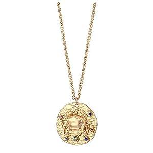 iszie Jewellery Halskette mit Sternzeichen-Anhänger Kristall