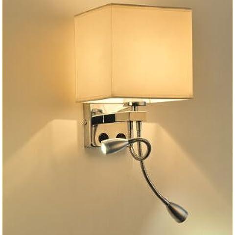 GS~LY Posto letto Lampada led lampada da parete i tessuti moderni luce corridoio balcone camera da letto minimalista creative lampade,D