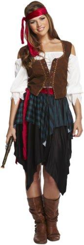 Henbrandt Damen-Kostüm Piratin Kleid Kostüm Seeräuber-Outfit