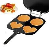 Best Pancake Maker - VelKro 4 Cute Shapes Non Stick Pancake Mold(Aluminium,Black) Review