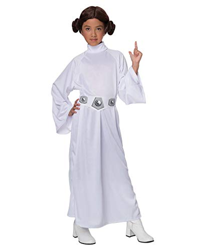 Star Wars Prinzessin Leia Kinderkostüm M (Prinzessin Leia Kind Perücke)