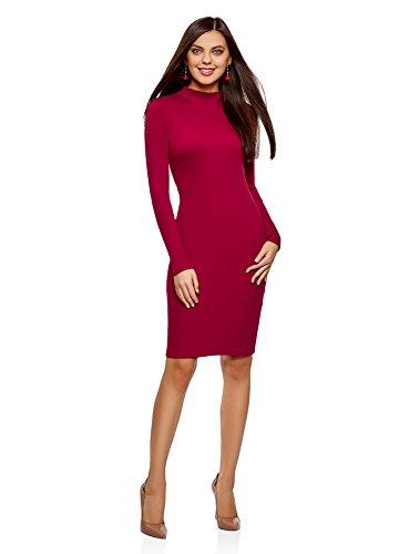 rsey-Kleid mit Stehkragen, Rot, DE 34/EU 36/XS (Sexy Kleid Mit Stiefeln)