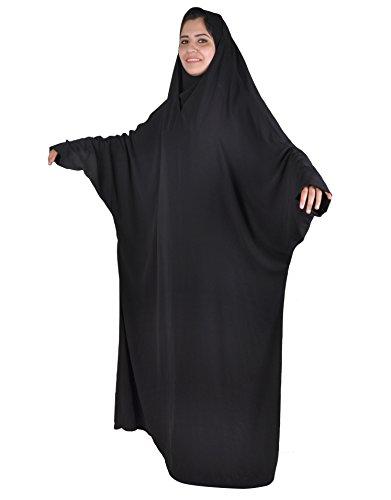 Egypt Bazar Zweiteiliger Isdal mit Kopftuch und Umhang, Islamische Gebetskleidung, schwarz