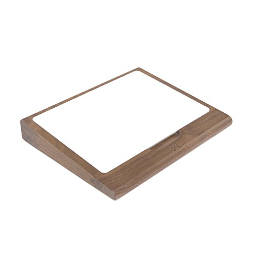 Woodcessories - EcoTray Trackpad Edition - Premium Design Auflage, Halterung, Keyboard Tastatur Tray für das Apple Magic Trackpad II aus Walnuss Holz