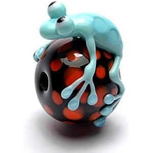 Lampwork Perle Frosch handgefertigt