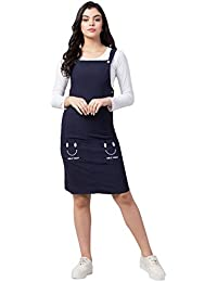 Arbiter Collection Cotton Lycra Dungaree Skirt with Top for Women