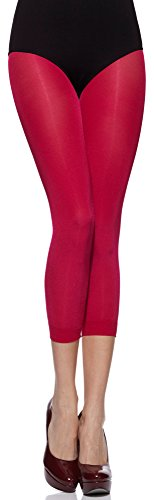 Merry Style Damen Leggings 3/4 MS 132 100 DEN Pink