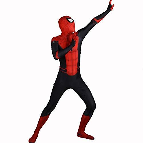 DFRTYE Erwachsene Kinder Spider-Man Halloween Kostüm Overall 3D Print Spandex Spiderman Spiel-Anim Cosplay Body,Adult-M