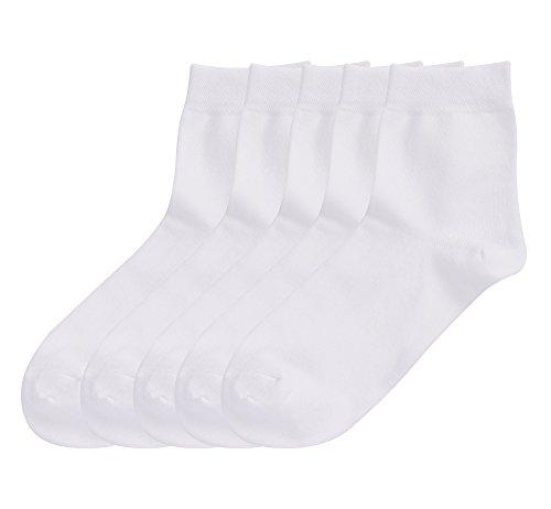 Nylon-anzug (DEBAIJIA 5 Paar Herren Business Socken Set, Baumwolle Crew Socken Atmungsaktiv Bequem, Anzug-Socken für Ganzjahr EU 40-45 (Weiß))