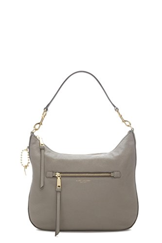 Marc-Jacobs-Womens-M0008895213-Grey-Leather-Shoulder-Bag