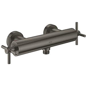 GROHE Atrio Ducha Grafito – Grifos de baño (Ducha, Grafito, Metal, Válvulas rotativas, Doble, 1/2″)