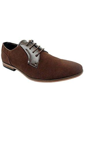 Chaussure de ville pour homme à lacets Marron