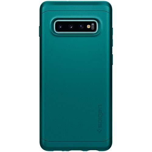 Spigen Coque Galaxy S10 Plus, Coque S10 Plus [Thin Fit Classic] Exact-Fit/Ultra Mince (0.76mm) / Adhérence Parfaite/Ultra Léger Coque Compatible avec Samsung Galaxy S10 Plus - [Green]