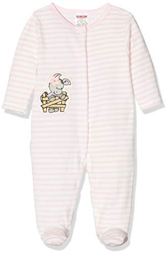 Schnizler Baby-Mädchen Schlafoverall Nicki Ringel Esel Schlafstrampler, Rosa (Rosa 14), (Herstellergröße: 68)