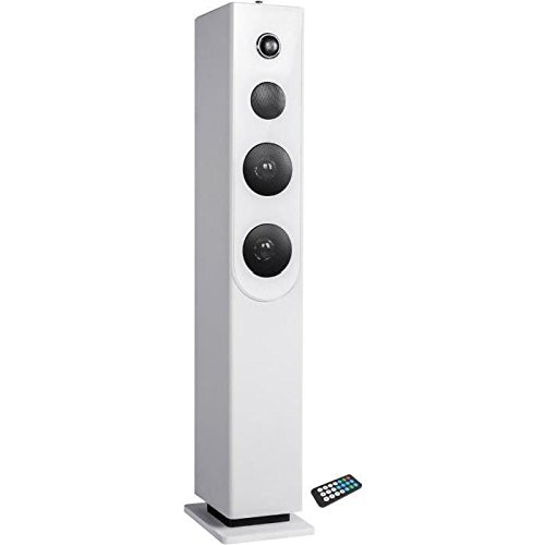 INOVALLEY HP33-CD Tour de son Bluetooth - Lecteur CD - Blanc
