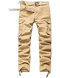 Hommes Pantalon Cargo Pantalon de Travail Style Militaire ea0c0341519
