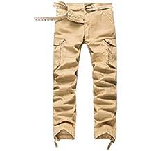 333be53e804d2 Hommes Pantalon Cargo Pantalon de Travail Style Militaire, Casual Pantalon  Multi Poche Cargo Sports De