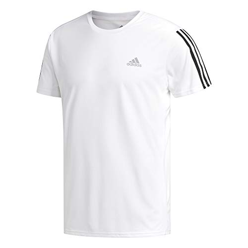 adidas Herren Run 3S M T-Shirt, White/Black, XL