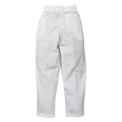 Chef Works a575-xs Easy Fit Pants, x-small, tinta unita bianco