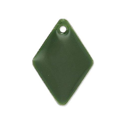 rombi-in-smalto-epossidico-15-mm-verde-oliva-x8
