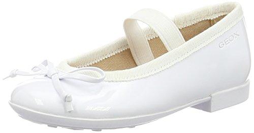 Geox Mädchen JR Plie' I Geschlossene Ballerinas, Weiß (Whitec1000), 28 EU