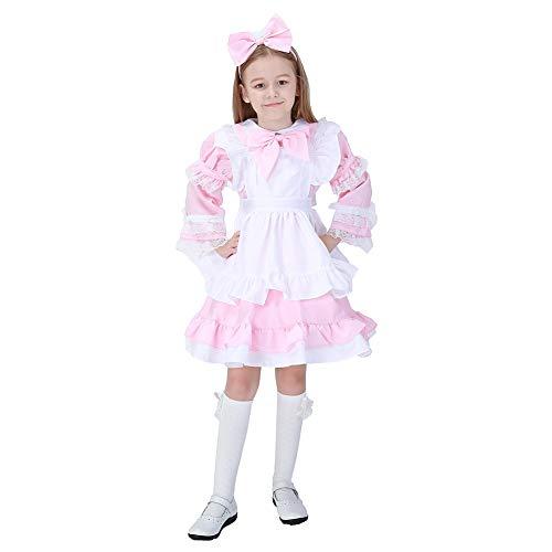 Blau Eltern-Kind-Kleid Kleidung Maid Halloween Cosplay Kostüme Sweet Lovely Kostüm-Sets Kits Schürze - Eltern Kostüm