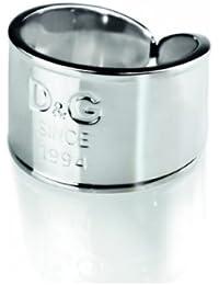 Dolce & Gabbana DJ102356 - I D&G - Anillo de mujer de acero inoxidable (talla: 16)