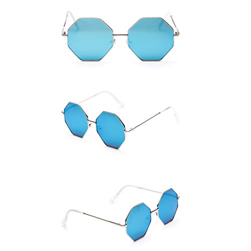 MCYs Retro Sonnenbrille blaues Quecksilber Frauen Weinlese Augen Sonnenbrille Retro Eyewear Art Strahlenschutz