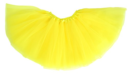 Dancina Tutu Adult Teens 4 Layer for 5k 10k Fun Color Run Clubwear Race Costume Regular Size 18  Yellow