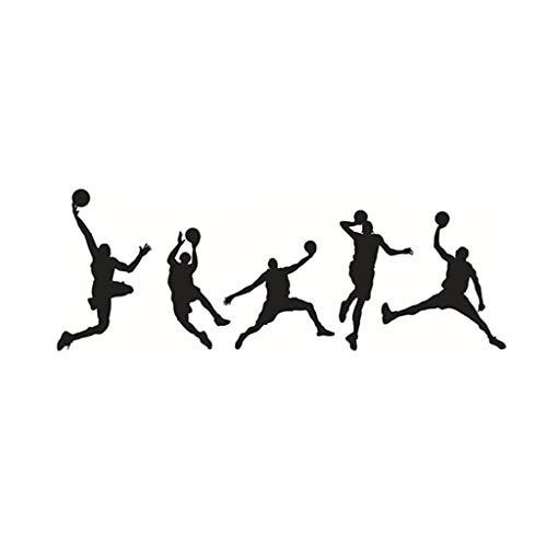 A-Artist Sport Basketball Wandaufkleber MöBel-Aufkleber Kunst-Wandaufkleber Wandtattoo Wohnzimmer Sticker Wandsticker Wand Dekoration Fototapete Selbstklebend Wallpaper Dekorfolie (Basketball-wand-kunst)