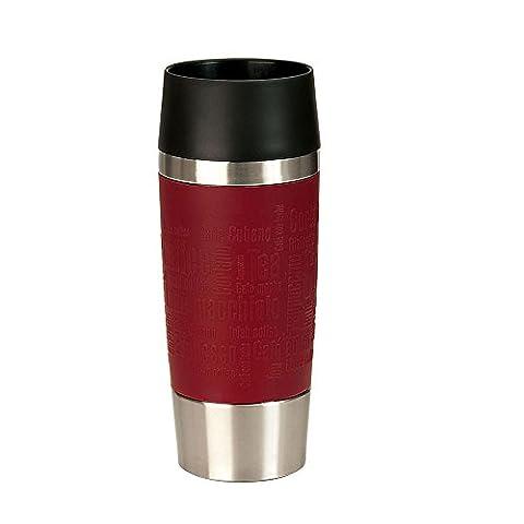 Thermobecher Kaffeebecher Isolierbecher Travel Mug, 100% dicht - auslaufsicher, ca. 0.35 l, Edelstahl Silikon