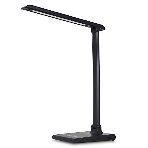 August LEC315 - Lampada da Scrivania a LED Dimmerabile con Porta USB per la Ricarica di Cellulari - Lampada da Ufficio con 3 Modalità di Illuminazione / Luminosità Regolabile / Timer 30 min / Porta di Ricarica 5V 1.5A
