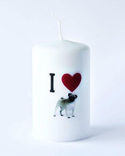 Grande Candela Con Buon Regalo Carlino Cucciolo Bella Candela Bambino Di Buona Qualità Nuova Collezione (Amore Candela Di Unità)