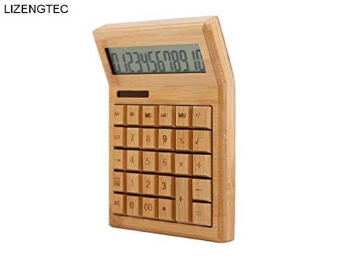 LETAMG Taschenrechner,Mode Business Finance Solar Powered 12 Digit Big Bambus Taste Elektronische Rechner (Big-bildschirm-rechner)