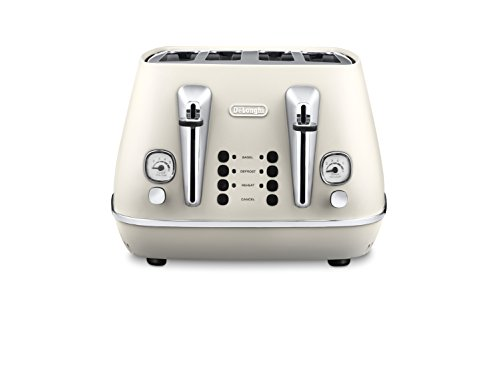 DeLonghi CTI 4003.W 4slice(s) 1800W Color blanco - Tostador (4 slice(s), Color blanco, 1800 W, 220-240, 50-60, 300 mm)