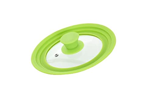 Idelice PR257 857A Couvercle Universel pour Casseroles 16/18/20cm Silicone/Inox Vert Anis