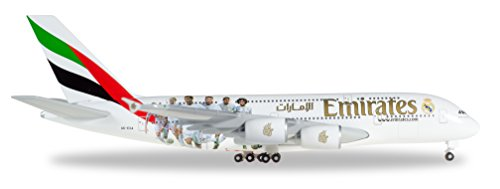 Herpa 529242-Emirates Airbus A380Real Madrid