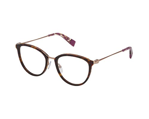 Furla montature occhiali vista donna vfu202 in metallo (havana)