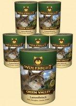 Warnicks Tierfutterservice Wolfsblut Green Valley Nassfutter für Hunde mit 66% Lammfleisch 6 - 800g Wolfsblut Nassfutter